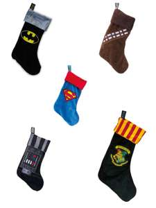Official Christmas Stockings £7.99 Delivered e.g Batman, Superman, BB8, Harry Potter, Chewbacca etc. @ Geek Store