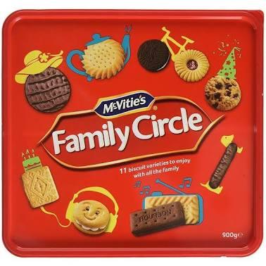 Family Circle 900g £2.39 / Doritos 5x180g £3.50 @ Costco