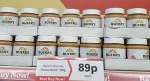 Duerr's Peanut Butter 340g jar 89p at Herons Hull