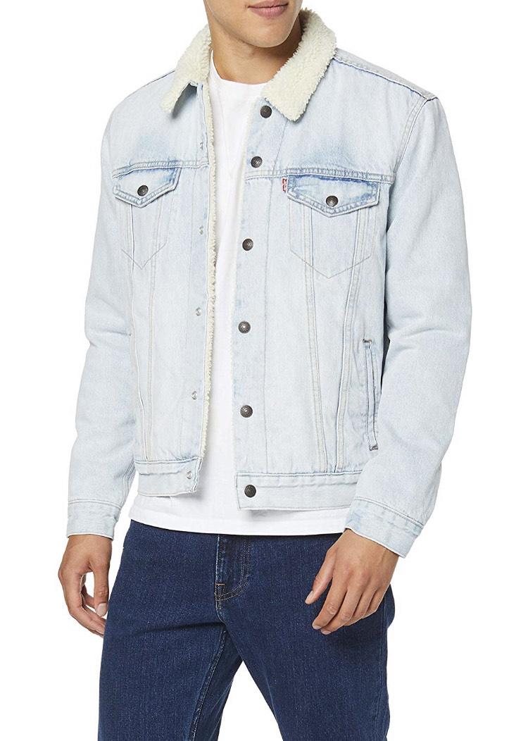 Levi's men's type 3 light blue Sherpa jacket (size S-3XL) £34.50 @ Amazon