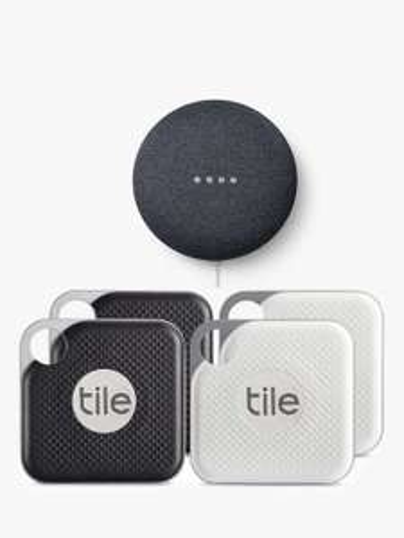 Tile Style Pro Series (2018) - 4 Pack + Free Google Nest Mini 2nd Gen £89.99 @ John Lewis & Partners