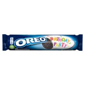 Oreo Birthday Party Sandwich Biscuits (154G) and all other Flavours 50p @ Asda