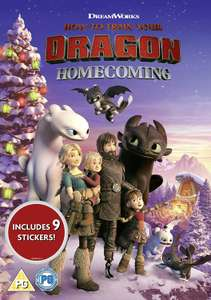How To Train Your Dragon: Homecoming DVD pre-order £4.99 from Amazon Prime with free stickers / £7.98 Non Prime