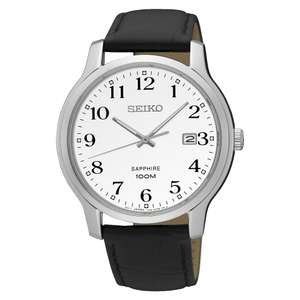 Seiko Men's white dial watch with sapphire crystal £72.25 at H Samuel