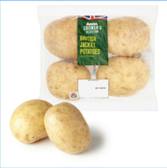 Baking Potatoes x4 - 50p at Asda