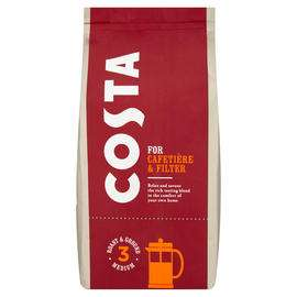 Iceland - Costa Cafetière & Filter Roast and Ground Coffee 200g