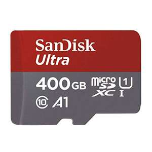 SanDisk Ultra 400GB microSDXC memory card + adapter up to 100 MB / s, Class 10, U1, A1 for £47.40 Delivered @ Amazon DE