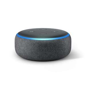 Amazon Echo Dot (3rd Gen) £22 / Echo Dot With Clock £34.99 Delivered @ Amazon