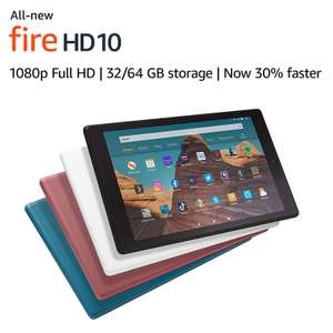 "All-new Fire HD 10 Tablet | 10.1"" 1080p Full HD display, 32 GB, Black with Special Offers £94.99 @ Amazon"