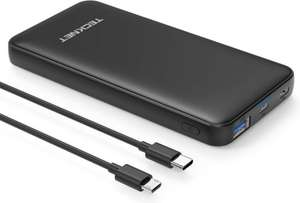 Lightning deal - TECKNET 10000mAh 18W Power Delivery USB C Quick Charge 3.0 Power Bank £8.99 sold by BLUETREE & dispatched by Amazon