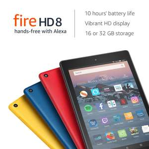 Fire HD 8 Tablet, 16 GB, Black—with Special Offers (All Colours) - £44.99 delivered @ Amazon