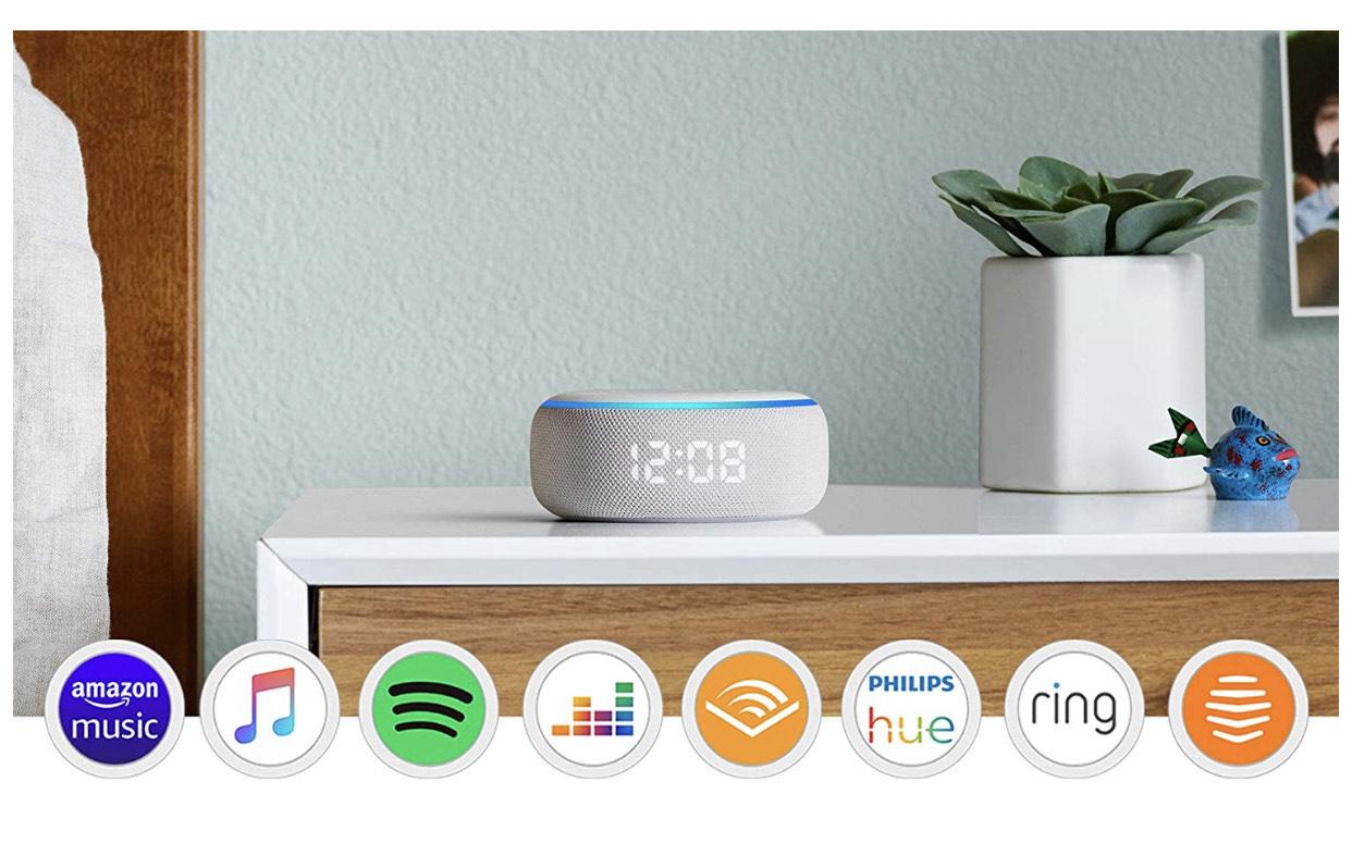 Amazon Echo Dot (3rd Generation) Smart Speaker With Clock & Alexa at Amazon £34.99 FREE Amazon music