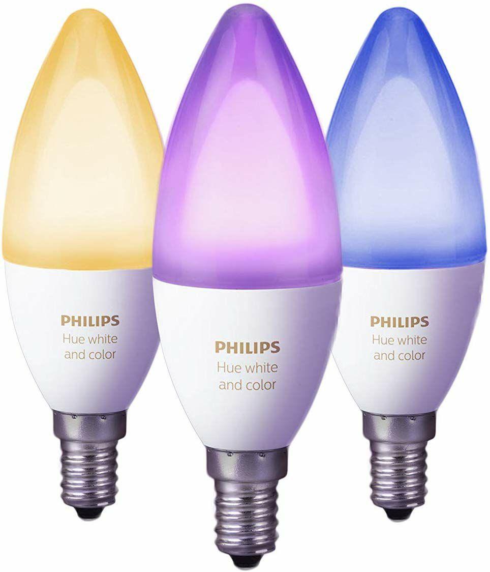 Philips Hue E14 White & Colour Ambiance Smart Bulb 3 Pack LED Bundle [E14 Small Edison Screw] £67.49 @ Amazon