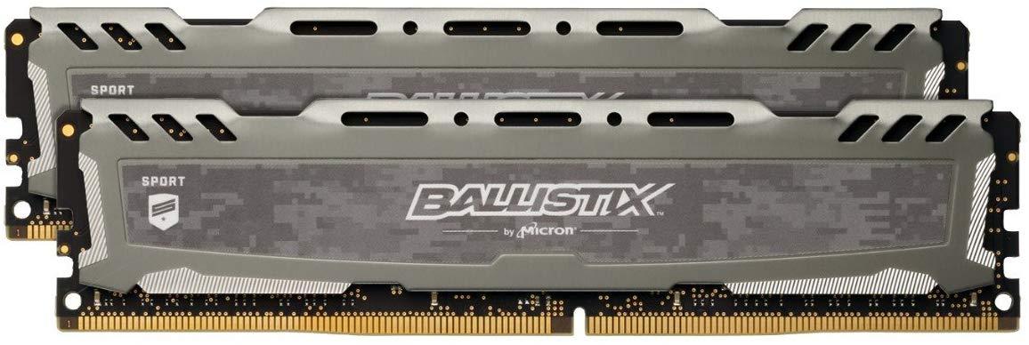 Crucial Ballistix Sport LT 3200 MHz Memory Kit, 16 GB (8 GB x 2), CL16, Grey £59.99 at Amazon