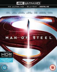 Various 4K UHD Blu Rays for £9.99 Eg Man of Steel / Superman The Movie (1978) / Justice League / Lego Batman @ The Entertainment Store ebay