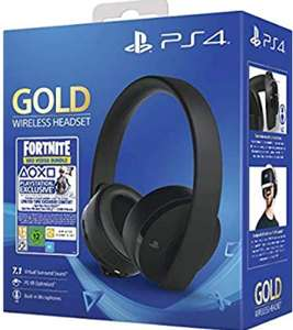 Sony Gold Black Wireless 7.1 Gaming Headset PS4 £49.99 at Amazon