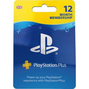 12 Months PlayStation Plus Network Membership at Argos for £34.99