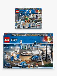 LEGO City 60229 Rocket Assembly & Transport Space Port & 60230 Space Research & Development People Pack at John Lewis & Partners £89.99