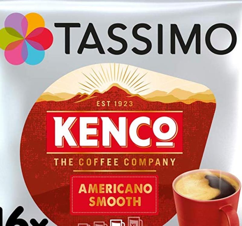 Tassimo Kenco Americano Smooth Coffee Pods (Case of 5, Total 80 pods) £13.50 at Amazon Prime / £17.99 Non Prime