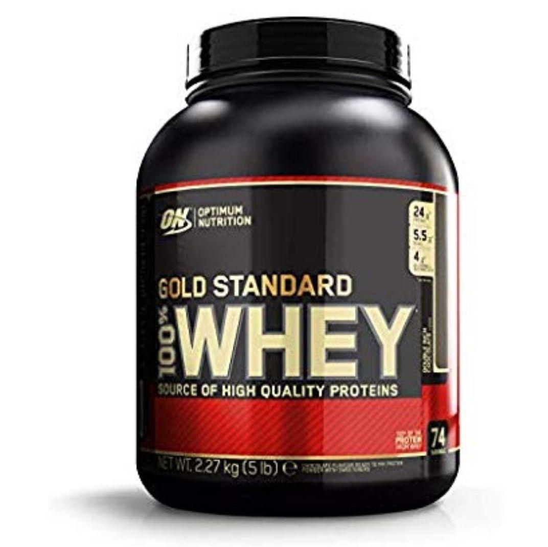 Optimum nutrition whey protein 2.27kg £34.99 on Amazon
