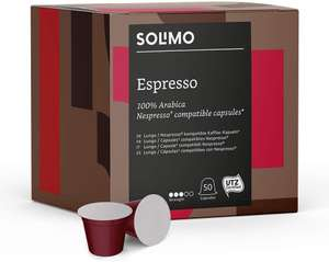 Solimo Nespresso Compatible Espresso capsules (100). Add-on Item qualiifying orders of £20 or more @ Amazon