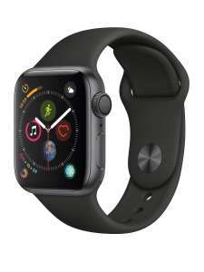 Apple Watch Series 4 (GPS, 40mm) - Space Grey Aluminium Case with Black Sport Band - £299 @ Amazon