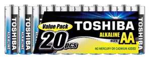 Toshiba AA Alkaline Batteries - 20 Pack for £3.96 Delivered @ Ebuyer