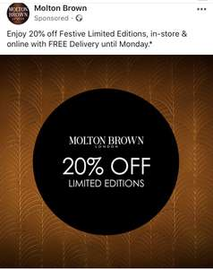 Enjoy 20% off Festive Limited Editions, in-store & online with FREE Delivery until Monday.*
