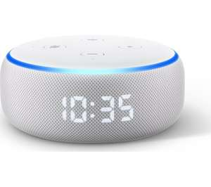 AMAZON Echo Dot with Clock (3rd Generation) - Sandstone £34.99 @ Currys PC World