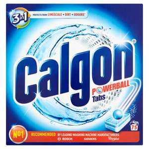 Calgon 3-in-1 Washing Machine Water Softener Tablets, 75 Tabs - £10.99 (Prime) £15.48 (Non Prime) @ Amazon