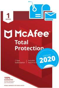 McAfee Total Protection 2020 | 1 Device | PC/Mac/Android/Smartphones £2.99 @ Amazon