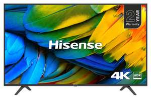 HISENSE H50B7100UK 50-Inch 4K UHD HDR Smart TV with Freeview Play (2019) [Energy Class A] £299 at Amazon