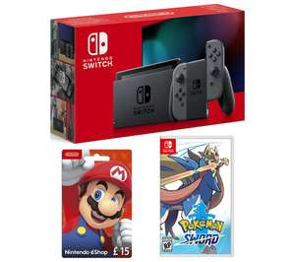 Nintendo Switch With Pokemon Sword & eShop £15 Gift + 6 Months Spotify Premium @ Currys £294