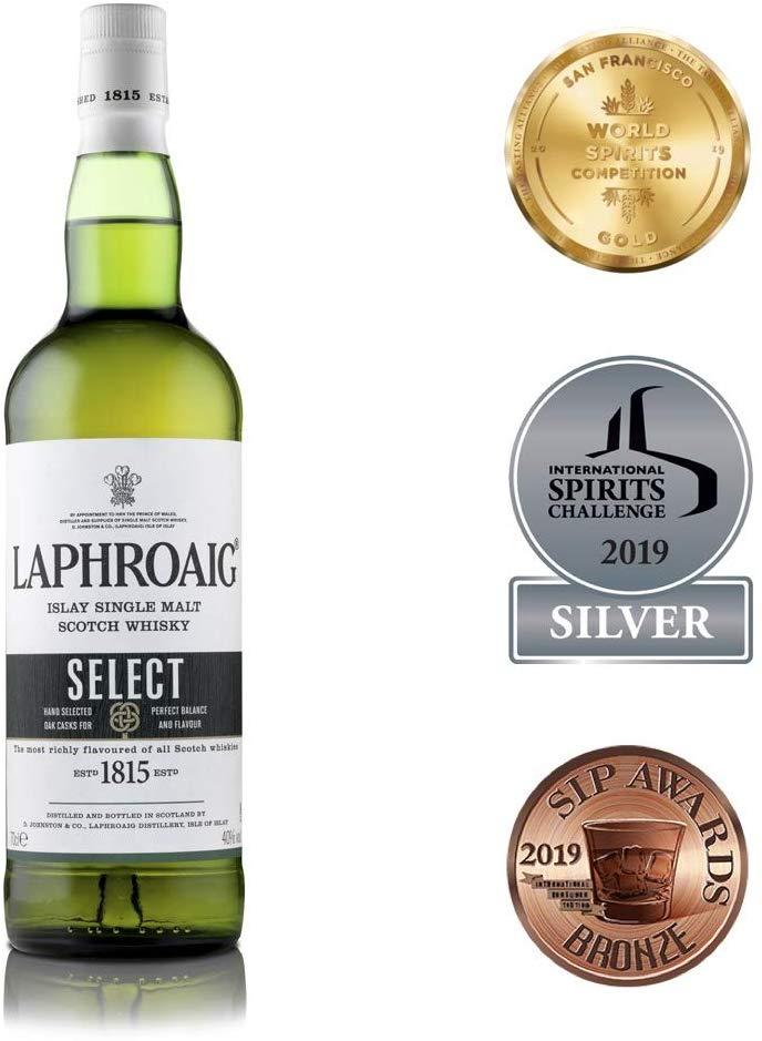 Laphroaig Select Islay Single Malt Scotch Whisky, 70cl - £23 @ Amazon