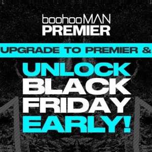 Premier Day Discount - 50% Off @ Boohooman for Premier Delivery Customers, otherwise 25% Off + Free Premier Delivery for Students
