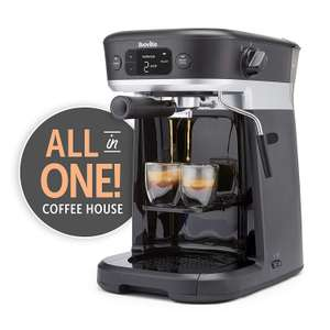 Breville All-in-One Coffee House, Espresso, Filter and Pods Coffee Machine with Milk Frother, Dolce Gusto Compatible at Amazon £159.99