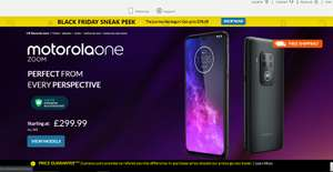 Motorola One Zoom 48+8+5MP 128GB Mobile £299.99 and other reductions for EdenRed employee incentive scheme members