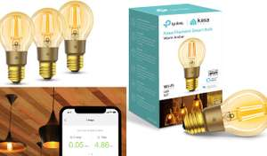 Pack of 3 TP Link smart filament bulbs for £29.97: TP-Link KL60 Kasa Smart E27 Wi-Fi Dimmable Bulb @ Argos