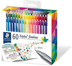 Staedtler Triplus fineliners in 60 colours, £19.99 + £4.49 NP from Amazon