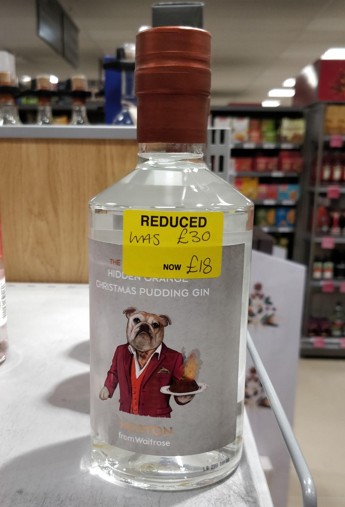Heston Hidden Orange Christmas Pudding Gin - £18 @ Waitrose (Bridport)