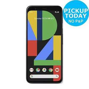 New SIM Free Google Pixel 4 64GB 16MP Mobile Phone - Black Smartphone £569.05 - Pixel 3A £312.55 - 3A XL £379.05 @ Argos Ebay