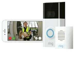 Ring Full HD 1080p Video Doorbell 2 and Chime Bundle - White / Black £119 at Argos eBay