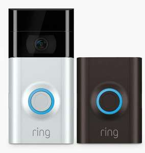 Ring Smart Video Doorbell 2 with Built-in Wi-Fi & Camera + Ring Spotlight Cam £189 at John Lewis & Partners