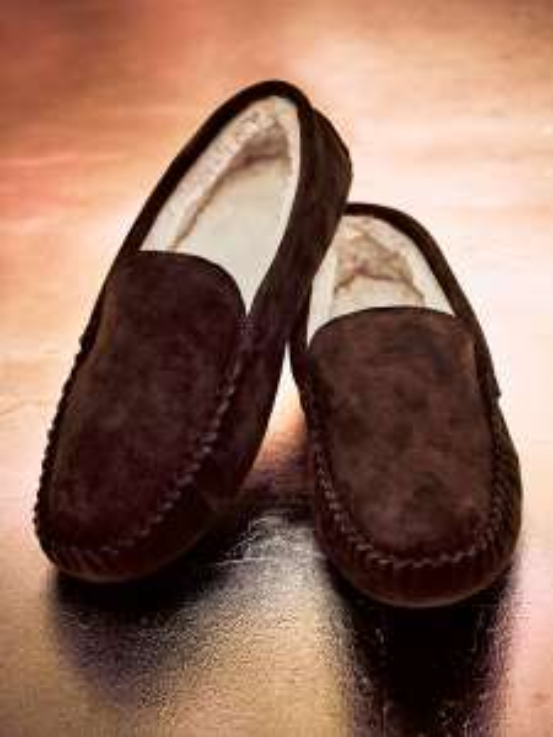 Burgen Suede Moccasin Slippers, Chocolate OR Black @ John Lewis & Partners - £28