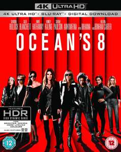 Ocean's 8 - 4K Ultra HD Blu-ray - £9.99 on Amazon (+£2.99 non-Prime delivery)