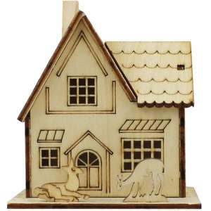 Mini Light Up Decorative Wooden House - Assorted - Free C&C @ The Works