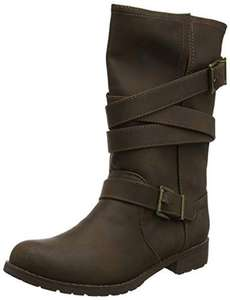 Rocket Dog Women's Bruly Biker Boots, £22.09 down from £80 - Free Prime Delivery @ Amazon