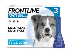 Frontline Flea and Tick Treatments on sale at Amazon ( FRONTLINE Spot On Flea & Tick Treatment for Medium Dog £11.79)