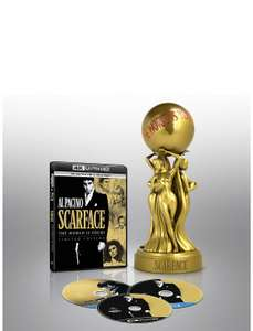Scarface 1983 4K UHD + Scarface 1932 Special Edition with Statue [Blu-ray] [2019] [Region Free] £50.75 WAS £60.00 @ Amazon