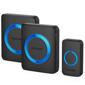 TECKNET Twin Plug-in Wireless Doorbell Kit £13.14 Prime / £17.63 Non Prime Delivered Sold by BLUETREE and Fulfilled by Amazon